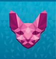 concept of polygonal sphinx vector image vector image