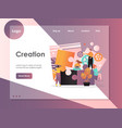 creation website landing page design vector image