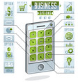 creative infographics concept cell phone vector image vector image