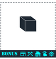 Cube icon flat vector image vector image