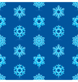 Deep Blue Snowflakes Pattern vector image vector image