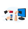 e-commerce concept online payment methods online vector image