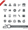 e-shopping icons - basics vector image vector image