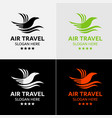 eagle travel logo template vector image vector image