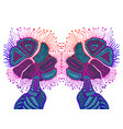 fantastic psychedelic abstract shamanic ornament vector image vector image