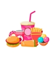 Fast Food Collection Colorful vector image vector image