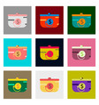 flat assembly icons of purse discount vector image vector image