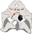 Ghosts and bomb cartoon vector image