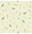 Green leafs seamless pattern vector image vector image