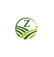 green project solution center initial z vector image vector image