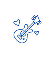 guitar music line icon concept guitar music flat vector image vector image