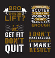 gym saying quote set 100 best for print vector image vector image