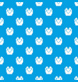 hand heart pattern seamless blue vector image vector image