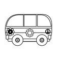 hippie bus vector image