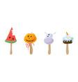 ice cream style halloween vector image