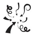 icon arrow set vector image vector image