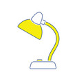 icon of lamp vector image