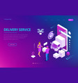 isometric logistics and delivery concept delivery vector image vector image