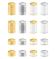metal tin can 05 vector image vector image