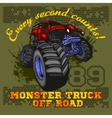 Monster Truck - off road badge vector image
