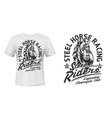 motorcycle racing club t-shirt print mockup vector image vector image