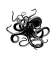 octopus icon for sea monster tattoo design vector image