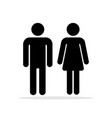 people bathroom icons vector image