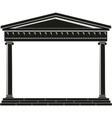 portico of ancient temple vector image vector image