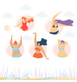 positive body motivate creative banner template vector image vector image