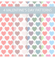 Seamless Valentines day patterns vector image vector image