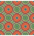 Seamless vintage retro pattern orange textile vector image vector image