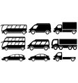 set isolated transport icons vector image vector image
