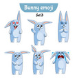 set of cute rabbit characters set 3 vector image
