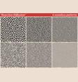 set of diffusion reaction seamless pattern black vector image vector image