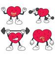 set of heart vector image