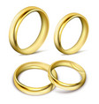 set of realistic of gold vector image vector image
