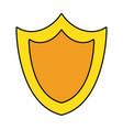 shield security symbol vector image vector image