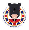 shirt printing london royal guard bearskins vector image vector image