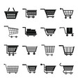 shopping cart icons set simple style vector image