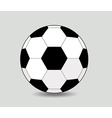 soccer ball on white background eps10 vector image vector image