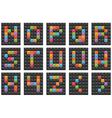 square alphabet set 2 vector image vector image