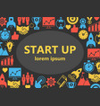 start up outline icons set vector image