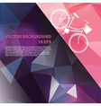 Summer poster with bicycle vector image vector image