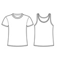 T-shirt and Singlet template vector image vector image