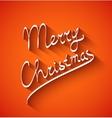 text design merry christmas on red color vector image vector image