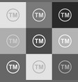 trade mark sign grayscale version of vector image vector image