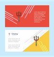 trident abstract corporate business banner vector image