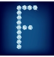 vector diamond alphabet letter f vector image