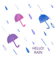 watercolor umbrella set vector image vector image
