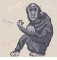 funny serious monkey Chimpanzee vector image